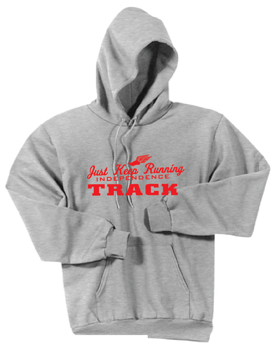 Fleece Hooded Sweatshirt / Ash Grey / IMS Track - Fidgety