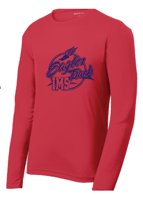 Long Sleeve Performance Tee / Red / IMS Track - Fidgety