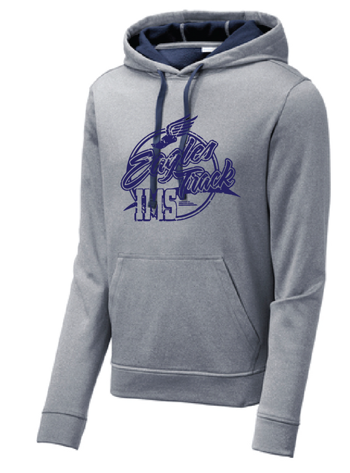 Sport-Wick Heather Fleece Hooded Sweatshirt / Heather Navy / IMS Track - Fidgety