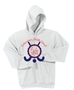 Fleece Hooded Sweatshirt / White / IMS Field Hockey - Fidgety