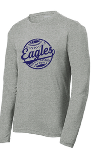 Performance RacerMesh Long Sleeve / Heather Gray / IMS Softball - Fidgety