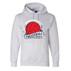 Fleece Hooded Sweatshirt (Youth & Adult) / Athletic Gray / Independence Volleyball