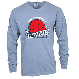 Comfort Colors Heavyweight Ring Spun Long Sleeve Tee / Washed Denim / Independence Volleyball