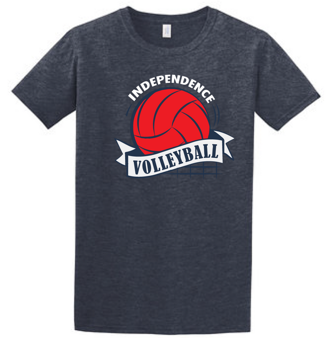 Softstyle Cotton T-Shirt (Youth & Adult) / Navy / Independence Volleyball
