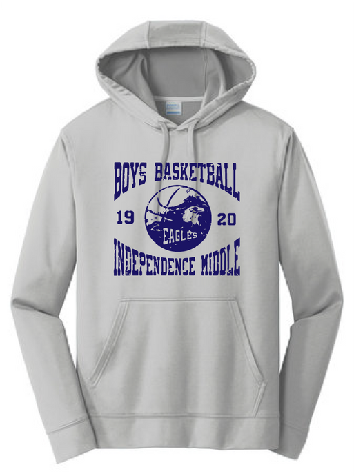 Performance Hooded Sweatshirt (Youth & Adult) / Silver / Independence Boys Basketball