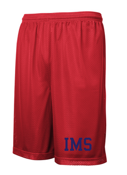 Classic Mesh Basketball Shorts (Youth & Adult) / Red / Independence Basketball