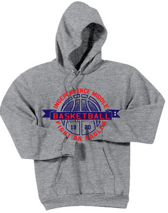 Fleece Hoody Sweatshirt / Ash Gray / Independence Girls Basketball
