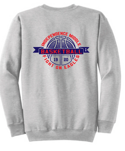 Crew Neck Sweatshirt / Gray / Independence Girls Basketball