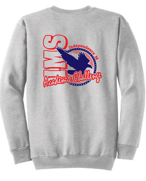 Crew Neck Sweatshirt / Gray / Independence Academic Challenge