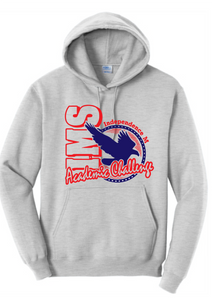 Fleece Hooded Sweatshirt / Gray / Independence Academic Challenge