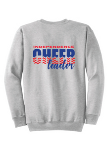 Fleece Crewneck Sweatshirt / Ash Gray / Independence Cheer - Fidgety