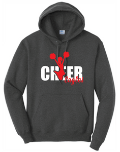 Fleece Hooded Sweatshirt / Dark Heather Gray / Independence Cheer