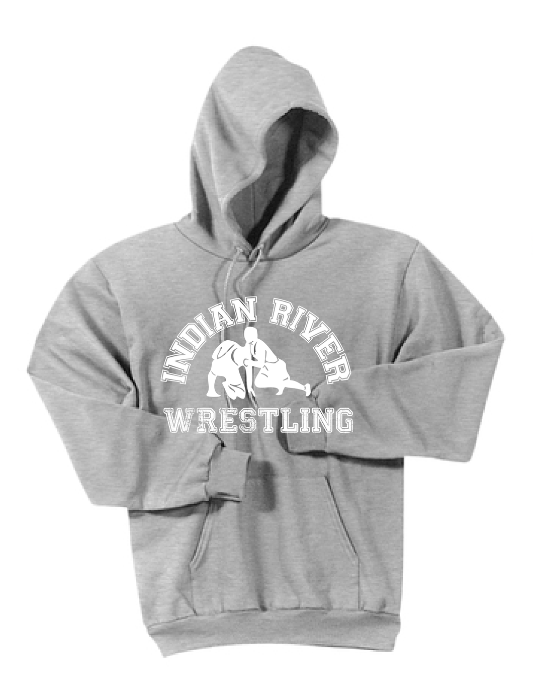 Hooded Sweatshirt / Ash Gray / Indian River Wrestling - Fidgety
