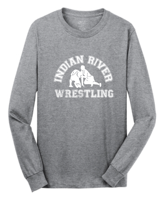 Cotton Long Sleeve Shirt / Gray / Indian River Wrestling - Fidgety