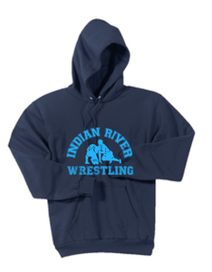 Hooded Sweatshirt / Navy / Indian River Wrestling - Fidgety