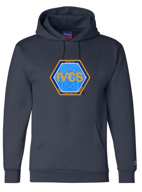 Fleece Hooded Sweatshirt / Navy / IVCS