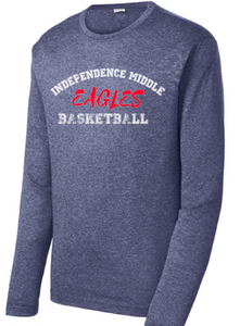 Long Sleeve Heather Contender Tee / Navy Heather / Independence Basketball - Fidgety