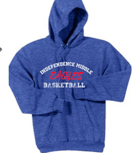 Fleece Hooded Basketball Sweatshirt / Blue / Independence Basketball - Fidgety