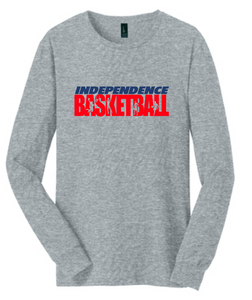 Long Sleeve Cotton T-Shirt / GRAY / Independence Basketball - Fidgety