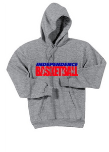 Fleece Hooded Basketball Sweatshirt / Gray / Independence Basketball - Fidgety