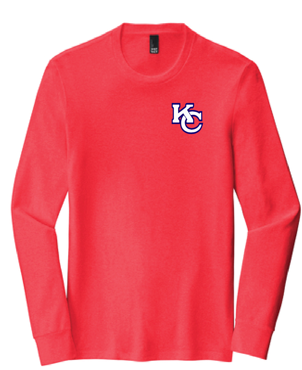Unisex Softstyle Long Sleeve Tee/ Heather Red / Kempsville High School