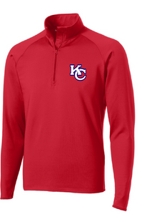 Sport-Wick Stretch 1/2-Zip Pullover / Red / Kempsville High School