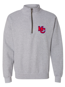 Vintage Quarter-Zip Sweatshirt / Sport Grey / Kempsville High School