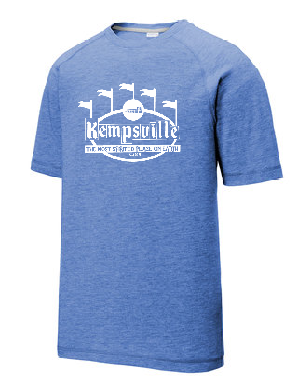 PosiCharge Tri-Blend Wicking Tee / True Royal Heather / Kempsville High School