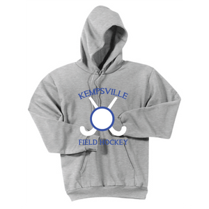 Fleece Hooded Sweatshirt / Ash Gray / Kempsville Field Hockey - Fidgety