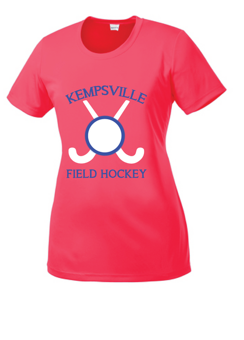 Ladies Performance Competitor Tee / Hot Coral / Kempsville Field Hockey - Fidgety