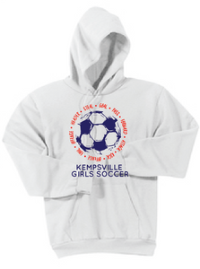 Core Fleece Hooded Sweatshirt (Youth & Adult) / White / Kempsville Soccer - Fidgety