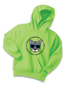 Fleece Hoody (Youth & Adult) / Neon Green / Kingston - Fidgety