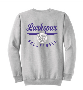 Fleece Crewneck Sweatshirt (Youth & Adult) / Athletic Gray / Larkspur Volleyball