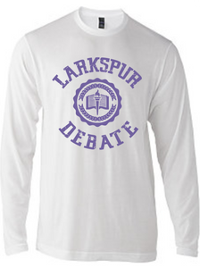 Softstyle Long sleeve T-Shirt (Youth & Adult) / White / Larkspur Debate