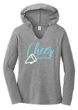 TriBlend Long Sleeve T-Shirt Hoody / Grey Frost / Lynnhaven Cheer - Fidgety