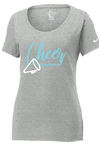 Nike Core Cotton Scoop Neck Tee / Gray / Lynnhaven Cheer - Fidgety