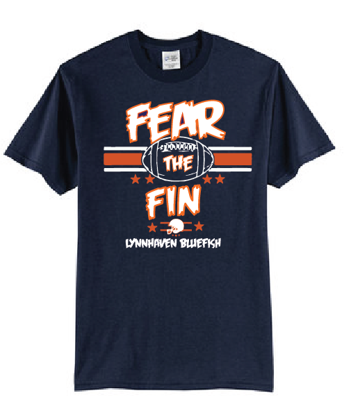 FEAR THE FIN Short Sleeve Shirt / Heather Navy / LMS Football - Fidgety