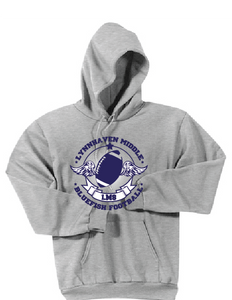 Bluefish Football Fleece Hoody / Gray / LMS Football - Fidgety