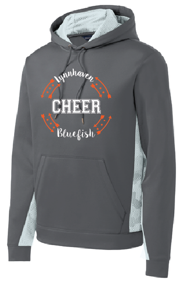 CHEER Performance Fleece Hooded Pullover / Gray & White / LMS Cheer - Fidgety