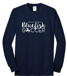 Lynnhaven Soccer Long Sleeve Cotton Tee / Navy / LMS Girls Soccer - Fidgety