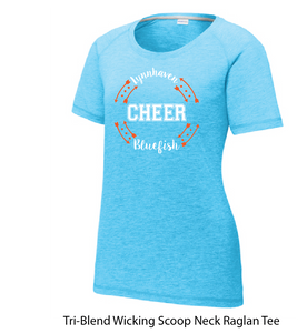 CHEER Tri-Blend Scoop Neck T-shirt/ Light Blue / LMS CHEER - Fidgety