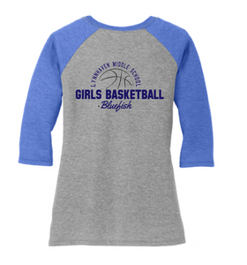 LMS Girls Basketball - Blue Raglan - Fidgety