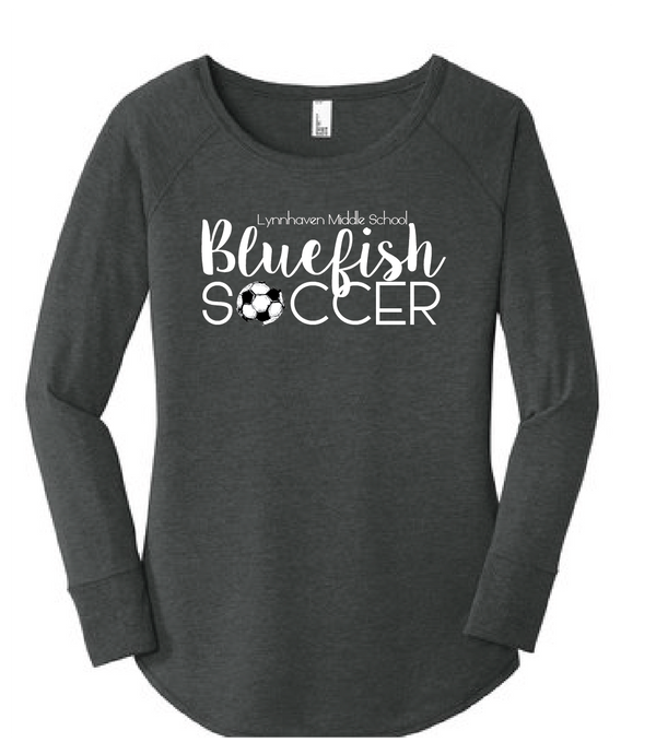 Bluefish Soccer Tri Blend Long Sleeve Tunic / Gray / LMS Girls Soccer - Fidgety