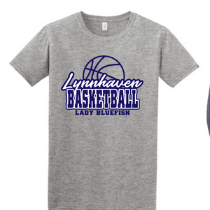 Softstyle Short Sleeve T-Shirt  / Heather Grey / Lynnhaven Girls Basketball