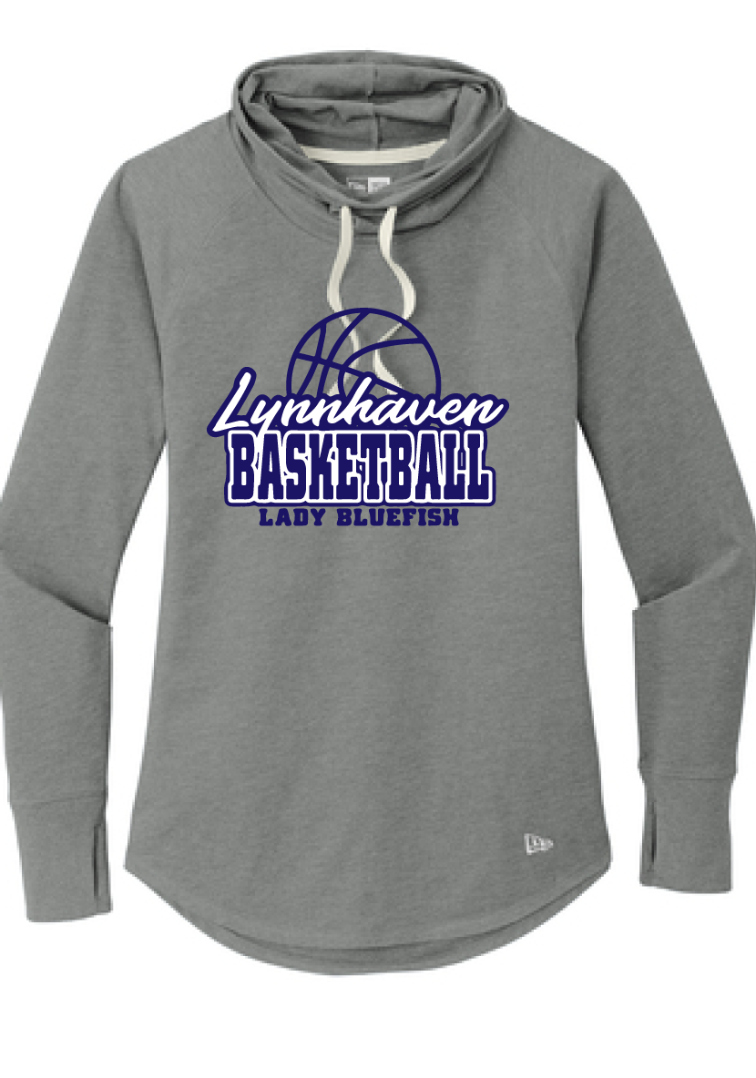 Ladies Sueded Cotton Blend Cowl Tee / Grey Heather / Lynnhaven Girls Basketball