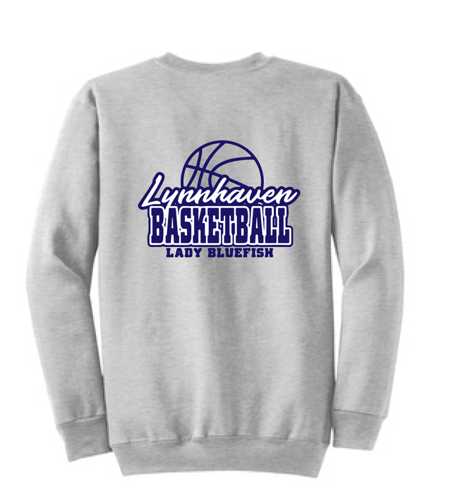 Crew neck Sweatshirt (Youth & Adult) / Ash Gray / Lynnhaven Girls Basketball