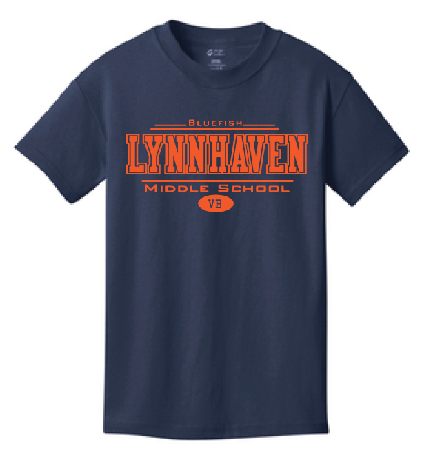 Lynnhaven Short Sleeve Cotton T-Shirt / Navy / LMS - Fidgety