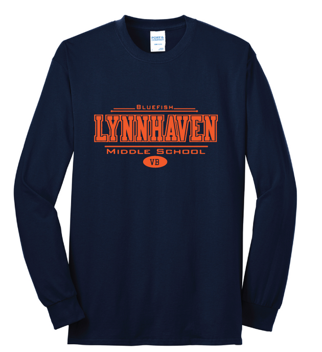 Lynnhaven Long Sleeve Cotton T-Shirt / Navy / LMS - Fidgety
