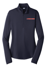 Ladies 1/4 Zip Athletic Pullover / Navy / Lynnhaven Staff - Fidgety