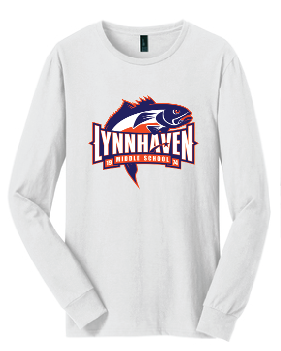 Lynnhaven Bluefish Long Sleeve Shirt / White / LMS/ - Fidgety